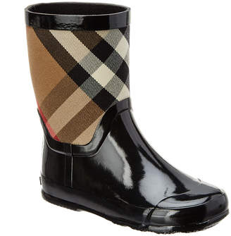 Burberry Girls' House Check Panel Rainboot