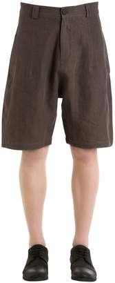 Isabel Benenato Linen Shorts
