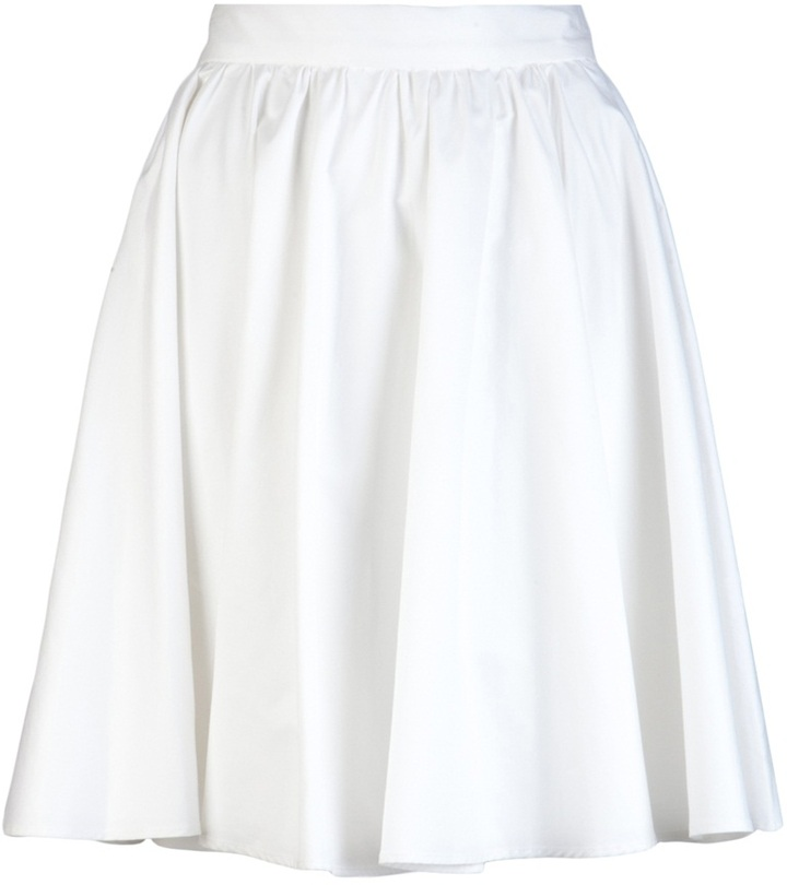 10 Crosby By Derek Lam Solid circle skirt