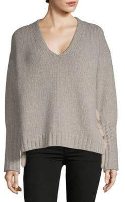 Agnona V-Neck Wool Cashmere Sweater