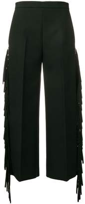 MSGM fringe cropped trousers