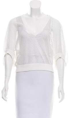 Givenchy Short Sleeve Mesh Top
