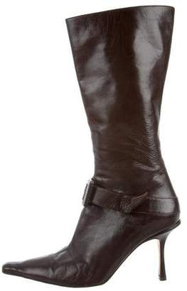 Jimmy Choo Leather Pointed-Toe Boots
