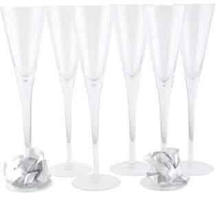 William Yeoward Set of 6 Lillian Crystal Champagne Flutes