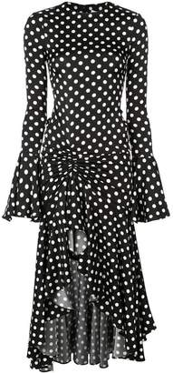 Caroline Constas polka dot print dress