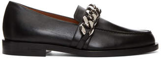 Givenchy Black Chain Line Loafers