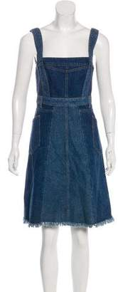 Alexander McQueen Denim Knee-Length Dress