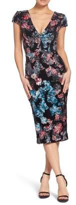 Dress the Population Allison Embellished Sheath Dress