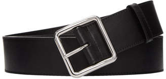 Alexander McQueen Black Plain Long Belt