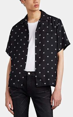 Amiri Men's Star-Print Silk Bowling Shirt - Black