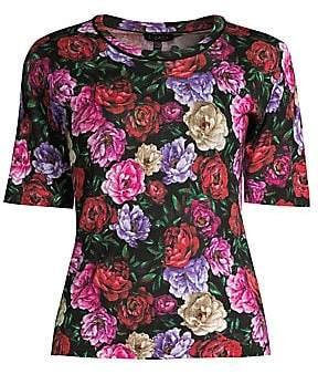 131220c73e6d6d Escada Women's Sanimo Peony Floral Wool & Silk Knit Shell Top