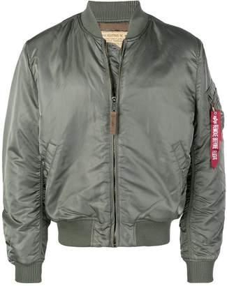 Alpha Industries zipped up bomber jacket