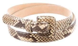 Nancy Gonzalez Snakeskin Skinny Belt
