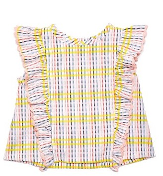 Infant Girl's Margherita Ruffle Plaid Top $30 thestylecure.com