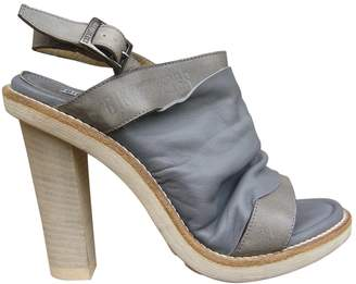 Dirk Bikkembergs Grey Leather Sandals