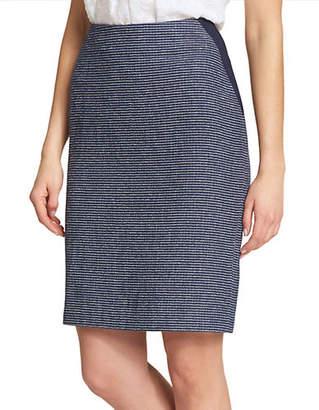 Tommy Hilfiger Novelty Tweed Colourblock Pencil Skirt