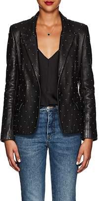 L'Agence Women's Montego Studded Leather Blazer Jacket