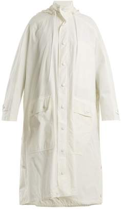 Balenciaga Opera Raincoat - Womens - White