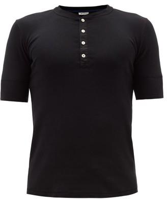 Schiesser - Short Sleeved Cotton Jersey Pyjama Top - Mens - Black