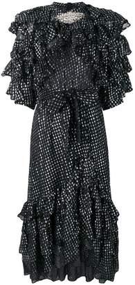 Dodo Bar Or ruffle short-sleeve flared dress