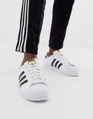 adidas Superstar Trainers In White C77124