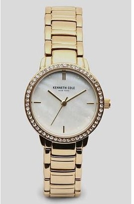 Kenneth Cole Women's Goldtone Crystallized Watch KC50047002