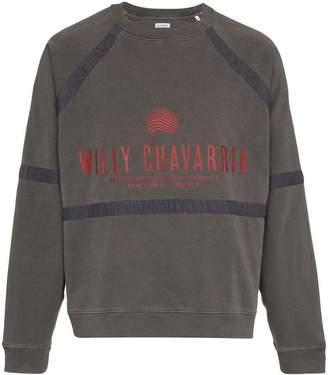 Willy Chavarria Battery logo print cotton sweatshirt
