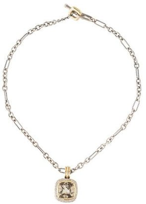 David Yurman Diamond & Quartz Albion Pendant Necklace $1,345 thestylecure.com