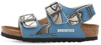 Birkenstock SHARK PRINT FAUX LEATHER SANDALS