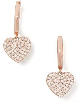 Kate Spade Pave Heart Drop Earrings