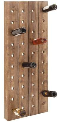 """DecMode 21"""" x 57"""" Extra Large Rustic Reclaimed Wood Hanging Wine Rack 