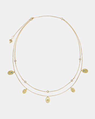 Wanderlust + Co Reverie Gold Charms Necklace