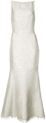 Oscar de la Renta brocade fitted dress