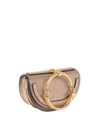 Chloe Nile Small Metallic Bracelet Minaudiere Bag $1,750 thestylecure.com