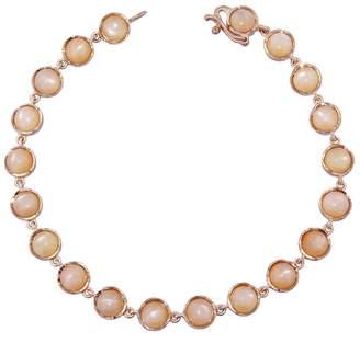 Irene Neuwirth Cabochon Peach Moonstone Chain Bracelet
