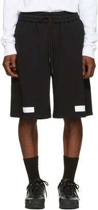Off-White Black Diagonal Arrows Shorts $325 thestylecure.com