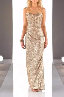 Sorella Vita Strapless Sequins Gown