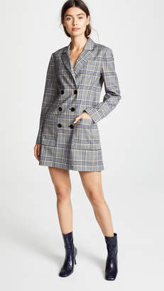 Tibi Lucas Double Breasted Blazer Dress