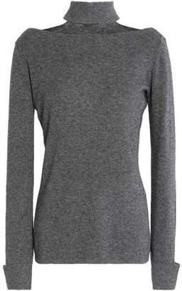 28ac12c37a3a1 Bailey 44 Aristocratic Cutout Stretch-knit Turtleneck Sweater