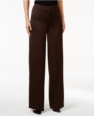 Alfani PRIMA Wide-Leg Satin Pants, Only at Macy's $79.50 thestylecure.com