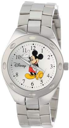 EWatchFactory Disney Men's 59007-13 Mickey Mouse Stainless Steel Silver Sunray Dial Watch