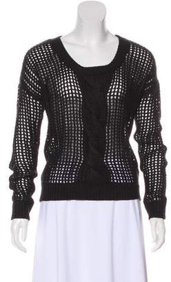 Monrow Long Sleeve Open Knit Sweater w/ Tags