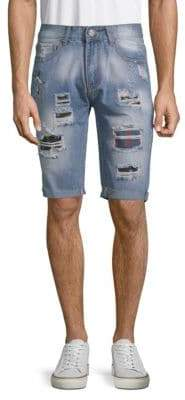 X-RAY Jeans Ripped Denim Shorts