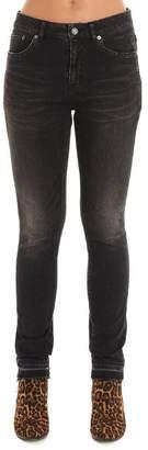 Saint Laurent Skinny Frayed Edge Jeans