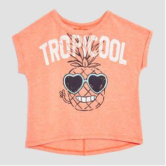 Joe Fresh Toddler Girls' Roll Cuff Graphic Tee