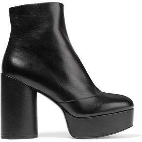 Marc Jacobs Leather Platform Ankle Boots