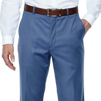 Jf J.Ferrar Stretch Light Blue Twill Classic Fit Suit Pants
