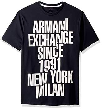 Armani Exchange A|X Men's Sliced Established Graphic Tee