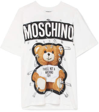 Moschino Oversized Printed Cotton-jersey T-shirt - White