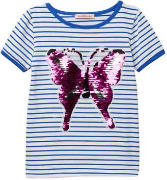 Paulinie Flip Sequin Butterfly Top (Baby, Toddler, & Little Girls)
